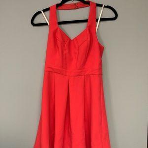 BCBGeneration Red A-line Halter Dress 0